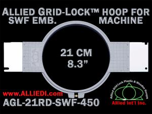 21 cm (8.3 inch) Round Allied Grid-Lock Plastic Embroidery Hoop - SWF 450