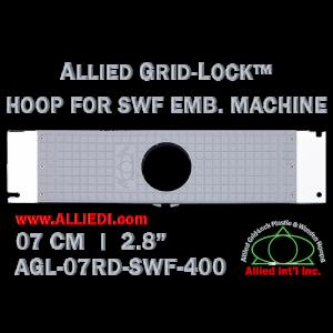 7 cm (2.8 inch) Round Allied Grid-Lock Plastic Embroidery Hoop - SWF 400