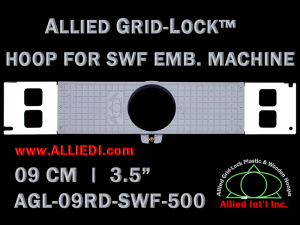 9 cm (3.5 inch) Round Allied Grid-Lock Plastic Embroidery Hoop - SWF 500