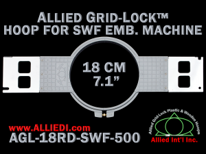 18 cm (7.1 inch) Round Allied Grid-Lock Plastic Embroidery Hoop - SWF 500