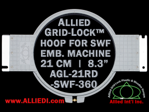 21 cm (8.3 inch) Round Allied Grid-Lock Plastic Embroidery Hoop - SWF 360