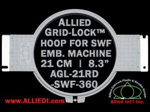 21 cm (8.3 inch) Round Allied Grid-Lock Plastic Embroidery Hoop - SWF 360