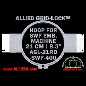 21 cm (8.3 inch) Round Allied Grid-Lock Plastic Embroidery Hoop - SWF 400
