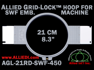 21 cm (8.3 inch) Round Allied Grid-Lock Plastic Embroidery Hoop - SWF 450