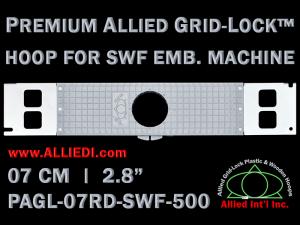 7 cm (2.8 inch) Round Premium Allied Grid-Lock Plastic Embroidery Hoop - SWF 500