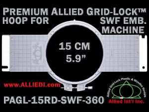 15 cm (5.9 inch) Round Premium Allied Grid-Lock Plastic Embroidery Hoop - SWF 360
