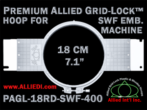 18 cm (7.1 inch) Round Premium Allied Grid-Lock Plastic Embroidery Hoop - SWF 400