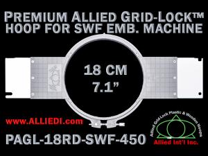 18 cm (7.1 inch) Round Premium Allied Grid-Lock Plastic Embroidery Hoop - SWF 450