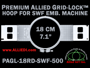18 cm (7.1 inch) Round Premium Allied Grid-Lock Plastic Embroidery Hoop - SWF 500