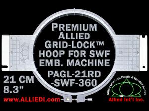 21 cm (8.3 inch) Round Premium Allied Grid-Lock Plastic Embroidery Hoop - SWF 360