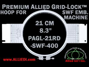 21 cm (8.3 inch) Round Premium Allied Grid-Lock Plastic Embroidery Hoop - SWF 400