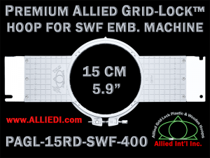 15 cm (5.9 inch) Round Premium Allied Grid-Lock Plastic Embroidery Hoop - SWF 400