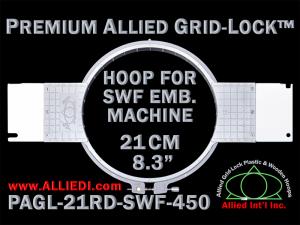 21 cm (8.3 inch) Round Premium Allied Grid-Lock Plastic Embroidery Hoop - SWF 450