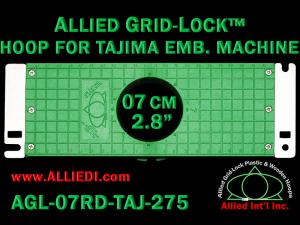Tajima 7 cm (2.8 inch) Round Allied Grid-Lock Embroidery Hoop for 275 mm Sew Field / Arm Spacing
