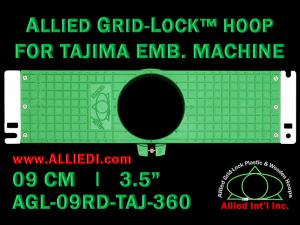 Tajima 9 cm (3.5 inch) Round Allied Grid-Lock Embroidery Hoop for 360 mm Sew Field / Arm Spacing