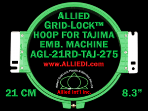 Tajima 21 cm (8.3 inch) Round Allied Grid-Lock Embroidery Hoop (New Design)  for 275 mm Sew Field / Arm Spacing