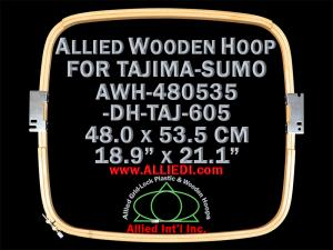 48.0 x 53.5 cm (18.9 x 21.1 inch) Rectangular Allied Wooden Embroidery Hoop, Double Height - Tajima 605