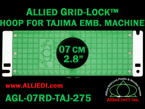 Tajima 7 cm (2.8 inch) Round Allied Grid-Lock Embroidery Hoop for 275 mm Sew Field / Arm Spacing