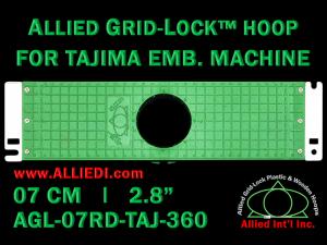 7 cm (2.8 inch) Round Allied Grid-Lock Plastic Embroidery Hoop - Tajima 360