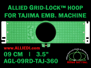 Tajima 9 cm (3.5 inch) Round Allied Grid-Lock Embroidery Hoop for 360 mm Sew Field / Arm Spacing
