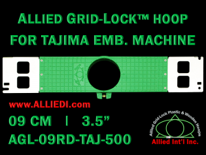 Tajima 9 cm (3.5 inch) Round Allied Grid-Lock Embroidery Hoop for 500 mm Sew Field / Arm Spacing