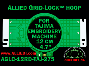 Tajima 12 cm (4.7 inch) Round Allied Grid-Lock Embroidery Hoop (New Design) for 275 mm Sew Field / Arm Spacing