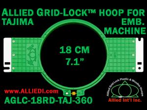 18 cm (7.1 inch) Round Allied Grid-Lock (New Design) Plastic Embroidery Hoop - Tajima 360