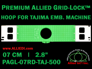 Tajima 7 cm (2.8 inch) Round Premium Allied Grid-Lock Embroidery Hoop for 500 mm Sew Field / Arm Spacing