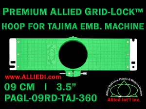 Tajima 9 cm (3.5 inch) Round Premium Allied Grid-Lock Embroidery Hoop for 360 mm Sew Field / Arm Spacing