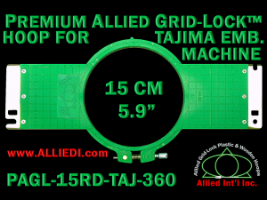 Tajima 15 cm (5.9 inch) Round Premium Allied Grid-Lock Embroidery Hoop for 360 mm Sew Field / Arm Spacing