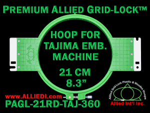 Tajima 21 cm (8.3 inch) Round Premium Allied Grid-Lock Embroidery Hoop for 360 mm Sew Field / Arm Spacing