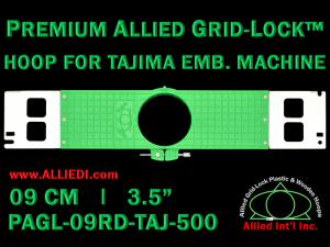 Tajima 9 cm (3.5 inch) Round Premium Allied Grid-Lock Embroidery Hoop for 500 mm Sew Field / Arm Spacing