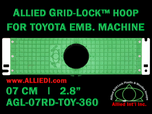 7 cm (2.8 inch) Round Allied Grid-Lock Plastic Embroidery Hoop - Toyota 360