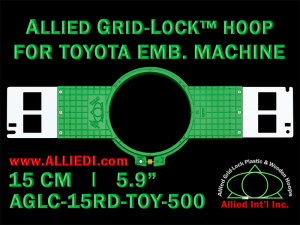 15 cm (5.9 inch) Round Allied Grid-Lock (New Design) Plastic Embroidery Hoop - Toyota 500