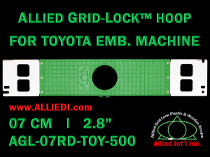 7 cm (2.8 inch) Round Allied Grid-Lock Plastic Embroidery Hoop - Toyota 500
