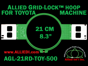21 cm (8.3 inch) Round Allied Grid-Lock Plastic Embroidery Hoop - Toyota 500