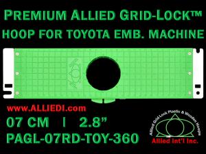 7 cm (2.8 inch) Round Premium Allied Grid-Lock Plastic Embroidery Hoop - Toyota 360