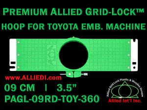 9 cm (3.5 inch) Round Premium Allied Grid-Lock Plastic Embroidery Hoop - Toyota 360