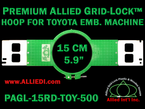 15 cm (5.9 inch) Round Premium Allied Grid-Lock Plastic Embroidery Hoop - Toyota 500