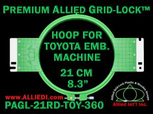 21 cm (8.3 inch) Round Premium Allied Grid-Lock Plastic Embroidery Hoop - Toyota 360