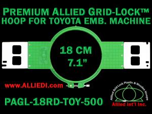 18 cm (7.1 inch) Round Premium Allied Grid-Lock Plastic Embroidery Hoop - Toyota 500