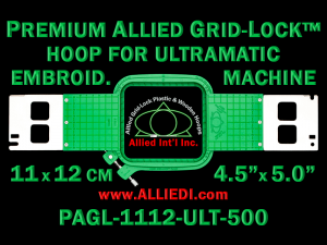 11 x 12 cm (4.5 x 5 inch) Rectangular Premium Allied Grid-Lock Plastic Embroidery Hoop - Ultramatic-II 500