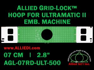 7 cm (2.8 inch) Round Allied Grid-Lock Plastic Embroidery Hoop - Ultramatic-II 500
