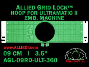9 cm (3.5 inch) Round Allied Grid-Lock Plastic Embroidery Hoop - Ultramatic-II 360