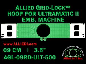 9 cm (3.5 inch) Round Allied Grid-Lock Plastic Embroidery Hoop - Ultramatic-II 500