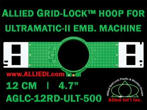12 cm (4.7 inch) Round Allied Grid-Lock (New Design) Plastic Embroidery Hoop - Ultramatic-II 500