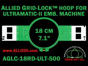 18 cm (7.1 inch) Round Allied Grid-Lock (New Design) Plastic Embroidery Hoop - Ultramatic-II 500