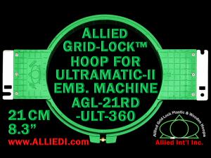 21 cm (8.3 inch) Round Allied Grid-Lock Plastic Embroidery Hoop - Ultramatic-II 360