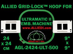 24 x 24 cm (9 x 9 inch) Square Allied Grid-Lock Plastic Embroidery Hoop - Ultramatic-II 500