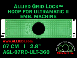 7 cm (2.8 inch) Round Allied Grid-Lock Plastic Embroidery Hoop - Ultramatic-II 360